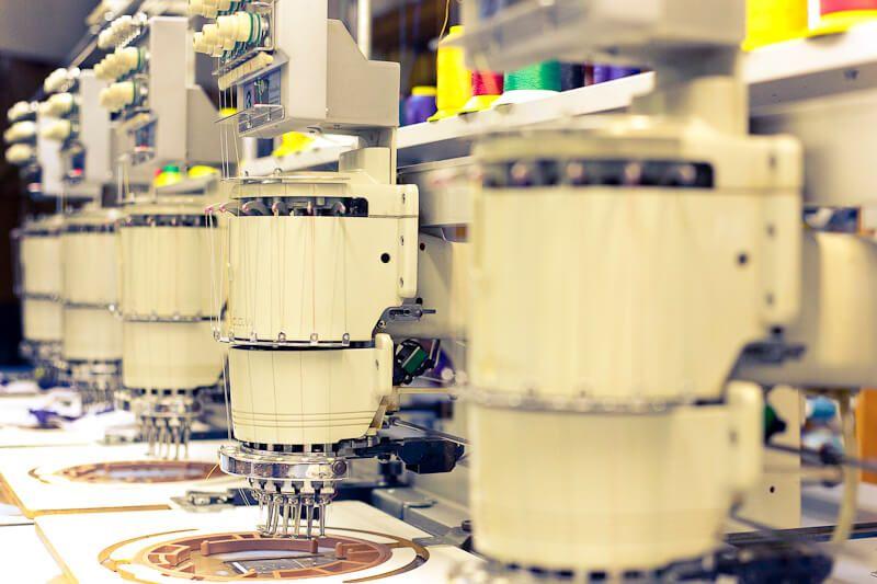 produção de bordados computadorizados